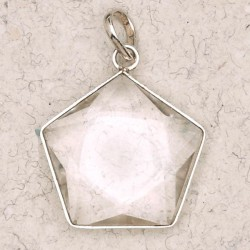 Clear Quartz 5 Point Prisma Star Pendant Tree of Life Journeys Reconnect with Yourself - Meditation, Law of Attraction, Spiritual Products