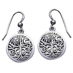Tree of Life Sterling Silver Earrings Tree of Life Journeys Reconnect with Yourself - Meditation, Law of Attraction, Spiritual Products