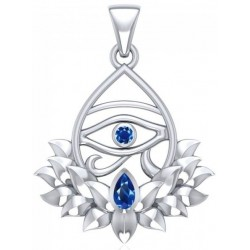 Lotus Eye of Horus Gemstone Pendant Tree of Life Journeys Reconnect with Yourself - Meditation, Law of Attraction, Spiritual Products