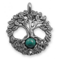 Celtic Tree of Life Sterling Silver Pendant with Gemstone Tree of Life Journeys Reconnect with Yourself - Meditation, Law of Attraction, Spiritual Products