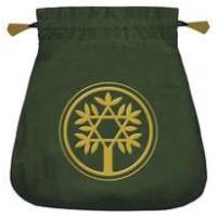Celtic Green Velvet Tarot Bag