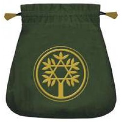Celtic Green Velvet Tarot Bag