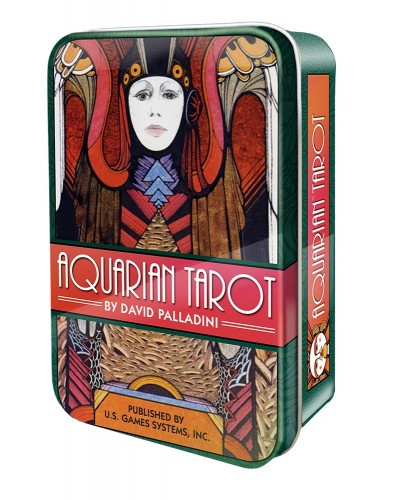 Aquarian Tarot Cards in a Tin at Tree of Life Journeys, Reconnect with Yourself - Meditation, Law of Attraction, Spiritual Products