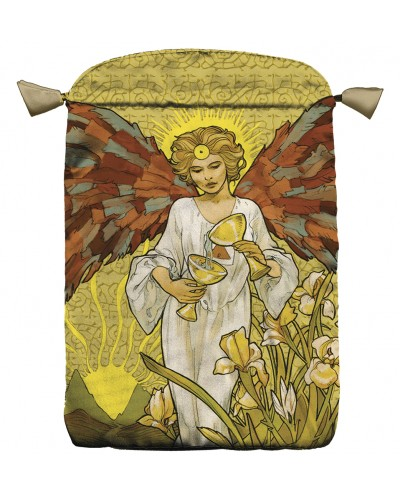 Art Nouveau Angel Satin Bag at Tree of Life Journeys, Reconnect with Yourself - Meditation, Law of Attraction, Spiritual Products