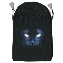 Black Cat Satin Tarot Bag Tree of Life Journeys Reconnect with Yourself - Meditation, Law of Attraction, Spiritual Products