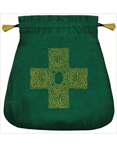 Celtic Cross Velvet Bag at Tree of Life Journeys, Reconnect with Yourself - Meditation, Law of Attraction, Spiritual Products