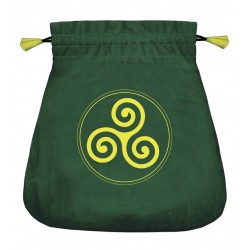 Celtic Triskel Velvet Bag Tree of Life Journeys Reconnect with Yourself - Meditation, Law of Attraction, Spiritual Products
