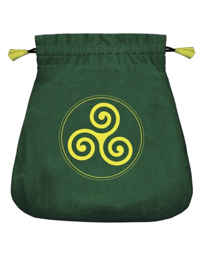 Celtic Triskel Velvet Bag at Tree of Life Journeys, Reconnect with Yourself - Meditation, Law of Attraction, Spiritual Products