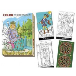 Color Your Own Tarot Card Deck Tree of Life Journeys Reconnect with Yourself - Meditation, Law of Attraction, Spiritual Products