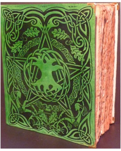 Tree of Life Leather Bound Journal with Antique Parchment at Tree of Life Journeys, Reconnect with Yourself - Meditation, Law of Attraction, Spiritual Products