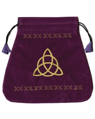 Triple Goddess Velvet Bag at Tree of Life Journeys, Reconnect with Yourself - Meditation, Law of Attraction, Spiritual Products