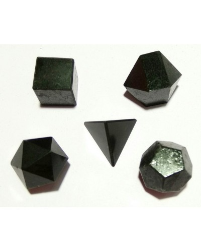 Black Tourmaline Sacred Geometry 5 Crystal Set at Tree of Life Journeys, Reconnect with Yourself - Meditation, Law of Attraction, Spiritual Products
