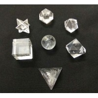 Clear Quartz Sacred Geometry 7 Crystal Set
