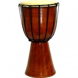 Djembe Drum Plain Red Mahogany Finish Drum Tree of Life Journeys Reconnect with Yourself - Meditation, Law of Attraction, Spiritual Products
