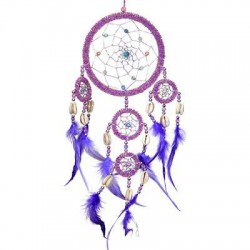 DreamCatcher with Pink Irridescent Beads Tree of Life Journeys Reconnect with Yourself - Meditation, Law of Attraction, Spiritual Products