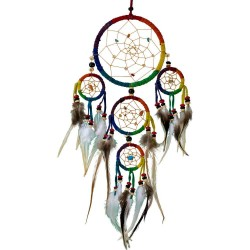 Rainbow Leather Dreamcatcher Tree of Life Journeys Reconnect with Yourself - Meditation, Law of Attraction, Spiritual Products