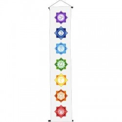 Chakra White Meditation Banner Tree of Life Journeys Reconnect with Yourself - Meditation, Law of Attraction, Spiritual Products