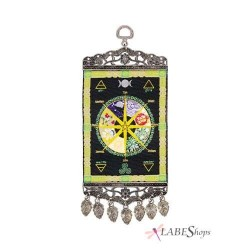 Wheel of the Year Mini Carpet Wall Hanging Tree of Life Journeys Reconnect with Yourself - Meditation, Law of Attraction, Spiritual Products