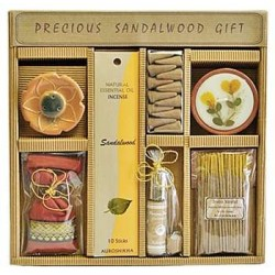 Precious Sandalwood Gift Set by Auroshikha Tree of Life Journeys Reconnect with Yourself - Meditation, Law of Attraction, Spiritual Products