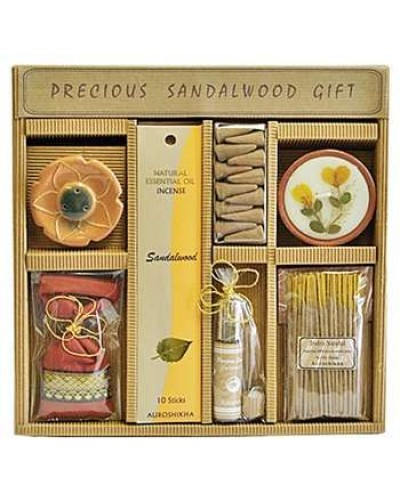 Precious Sandalwood Gift Set by Auroshikha at Tree of Life Journeys, Reconnect with Yourself - Meditation, Law of Attraction, Spiritual Products