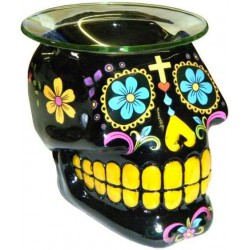 Black Sugar Skull Oil Burner