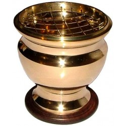 Brass Screen Top Urn Incense Burner Tree of Life Journeys Reconnect with Yourself - Meditation, Law of Attraction, Spiritual Products