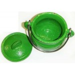 Green Cast Iron Mini Cauldron with Lid at Tree of Life Journeys, Reconnect with Yourself - Meditation, Law of Attraction, Spiritual Products