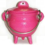 Pink Cast Iron Mini Cauldron with Lid at Tree of Life Journeys, Reconnect with Yourself - Meditation, Law of Attraction, Spiritual Products