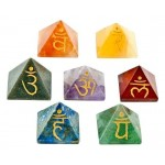 7 Chakra Gemstone Pyramid Set at Tree of Life Journeys, Reconnect with Yourself - Meditation, Law of Attraction, Spiritual Products