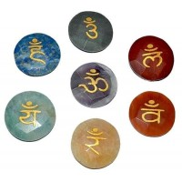 7 Chakra Faceted Gemstone Sanskrit Set