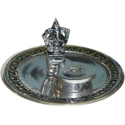 Ganesh with Altar Metal Incense Burner Tree of Life Journeys Reconnect with Yourself - Meditation, Law of Attraction, Spiritual Products
