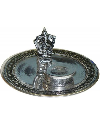 Ganesh with Altar Metal Incense Burner at Tree of Life Journeys, Reconnect with Yourself - Meditation, Law of Attraction, Spiritual Products
