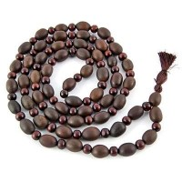 Natural Lotus Seed and Sandalwood Prayer Mala