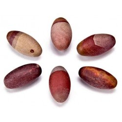 Shiva Lingam Stone - Set of 6 1 Inch Sacred Stones Tree of Life Journeys Reconnect with Yourself - Meditation, Law of Attraction, Spiritual Products