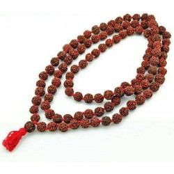 Rudraksha 16 MM Prayer Bead Mala Tree of Life Journeys Reconnect with Yourself - Meditation, Law of Attraction, Spiritual Products