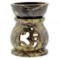 Om Carved Soapstone Oil Burner