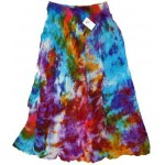 Tie Dye Cotton Boho Skirt at Tree of Life Journeys, Reconnect with Yourself - Meditation, Law of Attraction, Spiritual Products