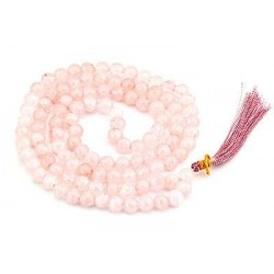Rose Quartz Prayer Bead Mala Tree of Life Journeys Reconnect with Yourself - Meditation, Law of Attraction, Spiritual Products