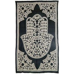 Hamsa Hand of Protection Cotton Full Size Bedspread Tree of Life Journeys Reconnect with Yourself - Meditation, Law of Attraction, Spiritual Products