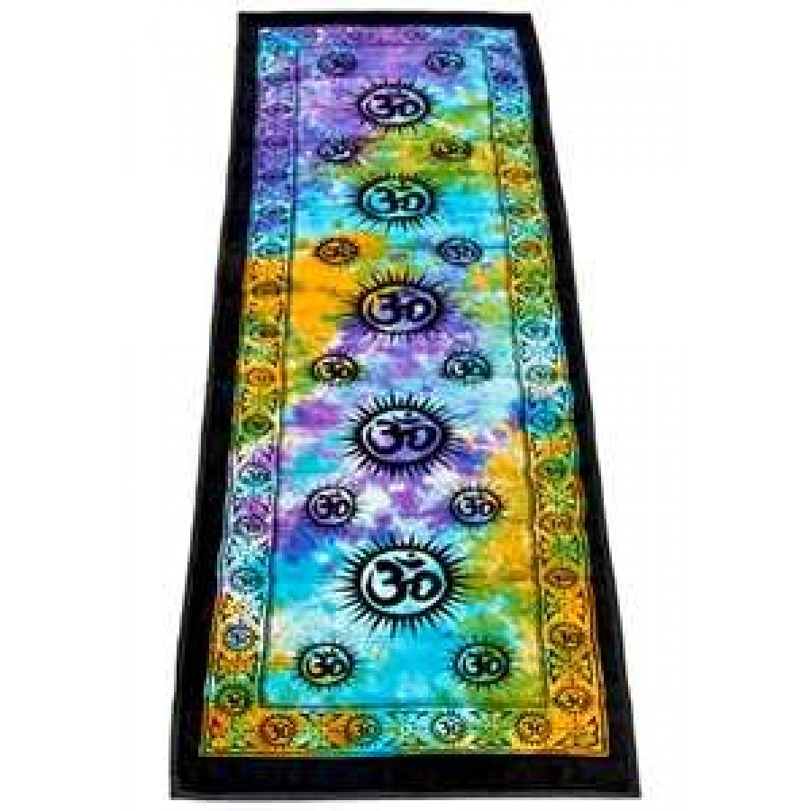 Om symbol tie dye cotton yoga mat wiccan yoga om symbol tie dye cotton yoga mat at tree of life journeys reconnect with yourself biocorpaavc