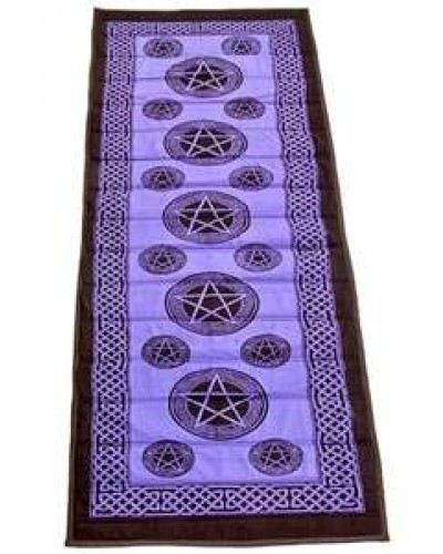 Pentacle Purple Cotton Yoga Mat at Tree of Life Journeys, Reconnect with Yourself - Meditation, Law of Attraction, Spiritual Products