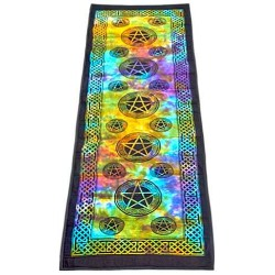 Pentacle Tie Dye Cotton Yoga Mat