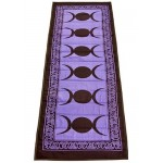 Triple Moon Purple Cotton Yoga Mat at Tree of Life Journeys, Reconnect with Yourself - Meditation, Law of Attraction, Spiritual Products