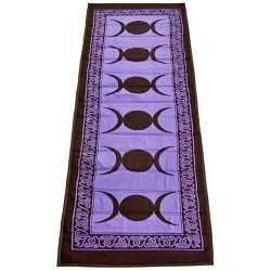 Triple Moon Purple Cotton Yoga Mat