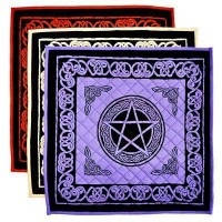 Pentacle Cotton Meditation Mats - 3 Assorted Colors