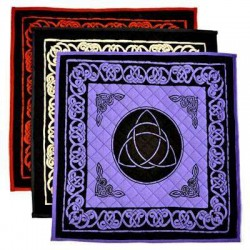 Triquetra Cotton Meditation Mats - 3 Assorted Colors Tree of Life Journeys Reconnect with Yourself - Meditation, Law of Attraction, Spiritual Products