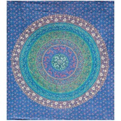 Floral Ring Blue Double Tapestry Tree of Life Journeys Reconnect with Yourself - Meditation, Law of Attraction, Spiritual Products