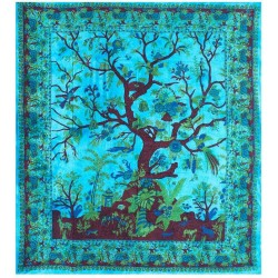 Tree of Life Blue Double Tapestry Tree of Life Journeys Reconnect with Yourself - Meditation, Law of Attraction, Spiritual Products