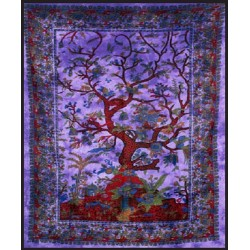 Tree of Life Purple Double Tapestry Tree of Life Journeys Reconnect with Yourself - Meditation, Law of Attraction, Spiritual Products