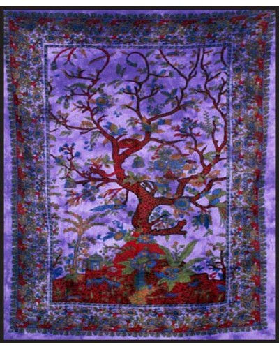 Tree of Life Purple Double Tapestry at Tree of Life Journeys, Reconnect with Yourself - Meditation, Law of Attraction, Spiritual Products